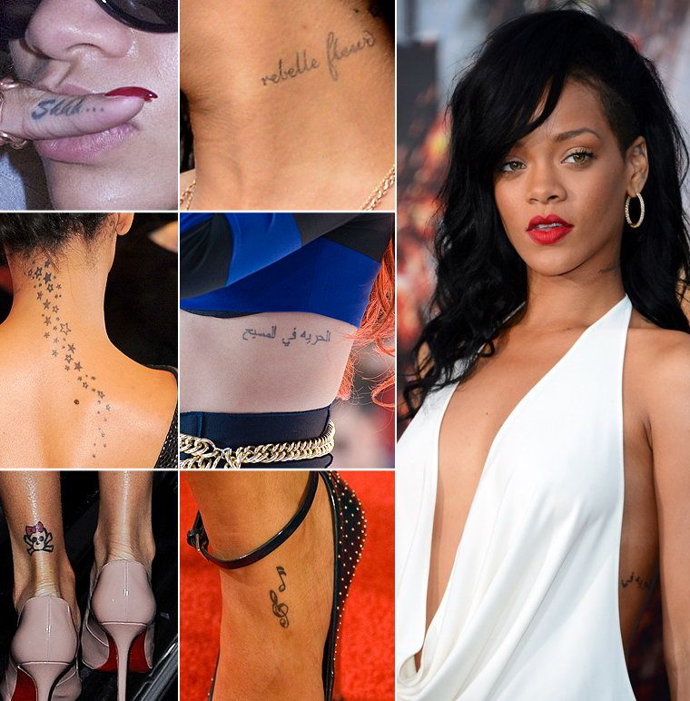 Татуировки знаменитостей девушек Фото неожиданных тату