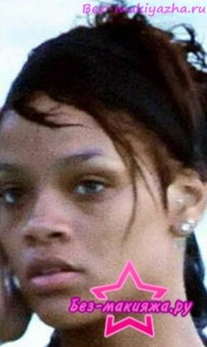 Рианна без макияжа