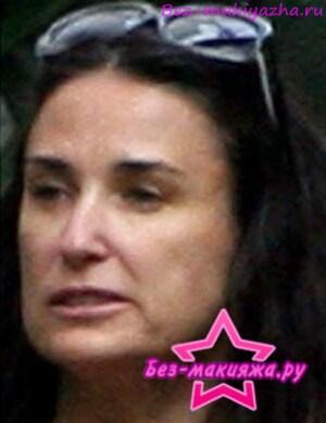Деми Мур без макияжа