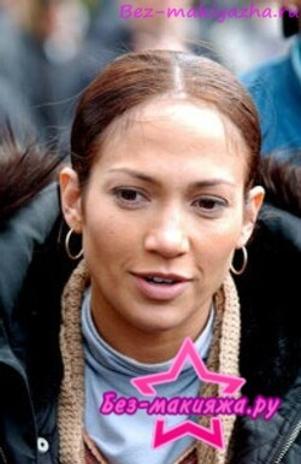 Дженифер Лопес без макияжа