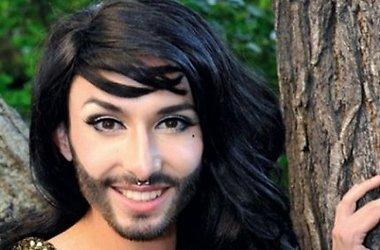 Кончита Вурст без макияжа