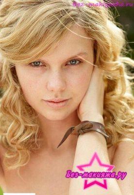 Тейлор Свифт без макияжа