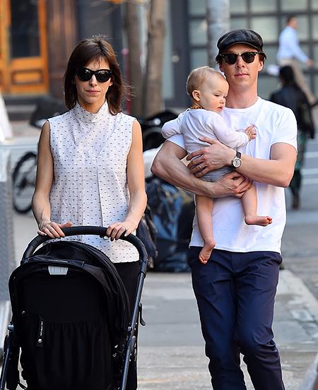 Дети Бенедикта Камбербэтча - фото с женой и детьми