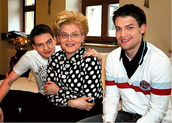 Елена Малышева и ее сыновья
