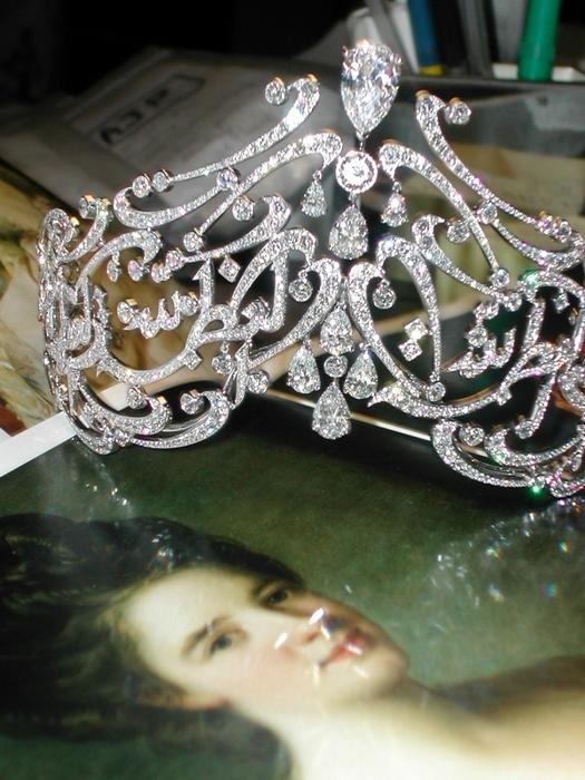 Королева Рания (тиара «Арабский свиток»)