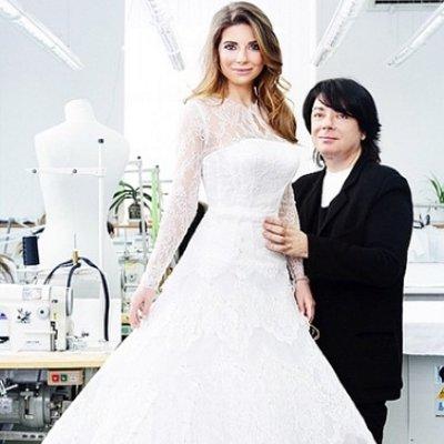 Валентин Юдашкин сшил свадебное платье для дочери
