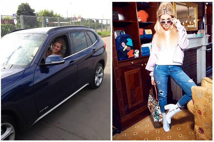 Валерия и машина BMW