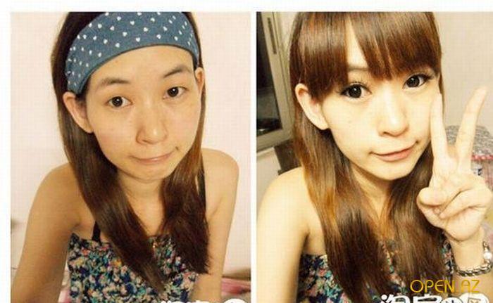 Японка без косметики
